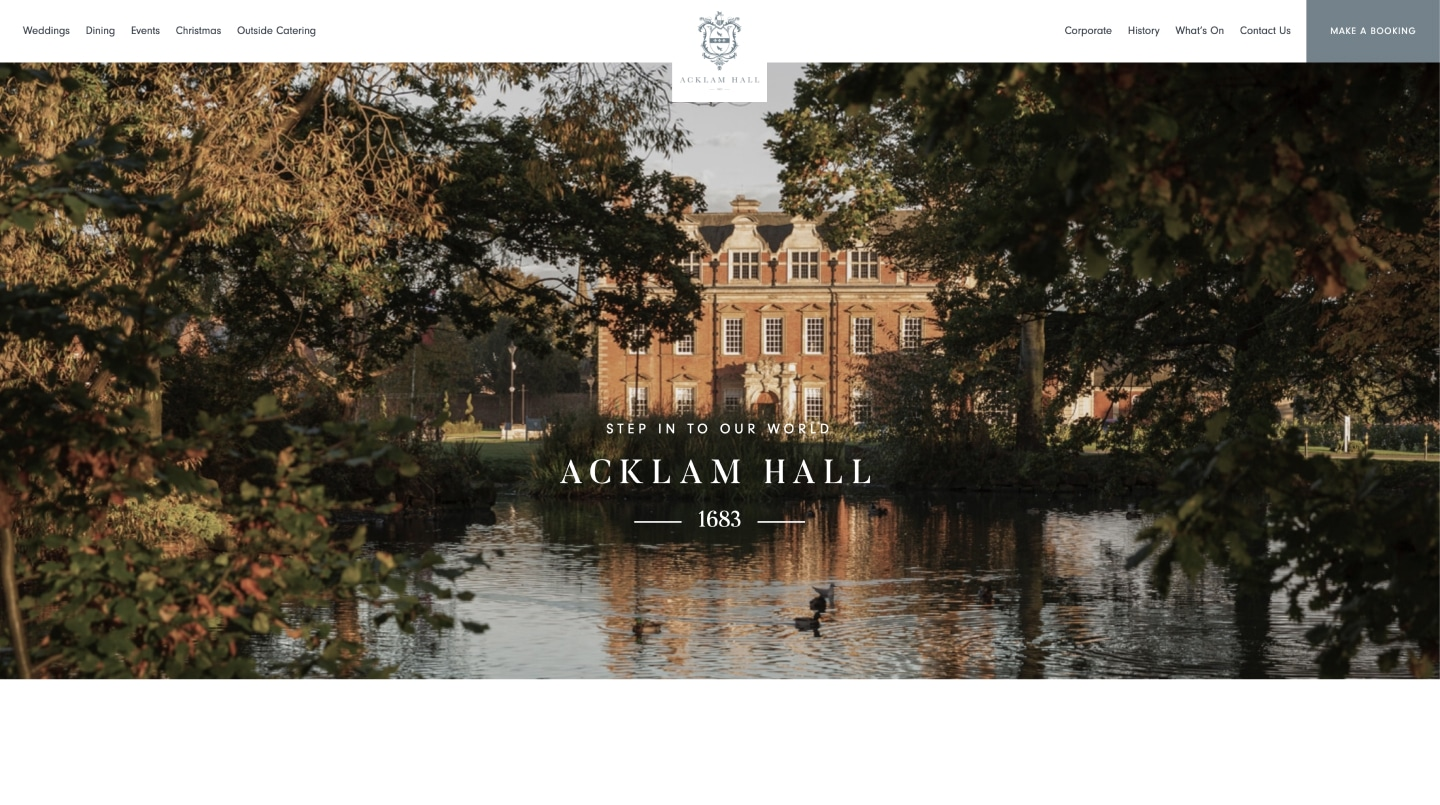 Acklam Hall - SEO and Web Design and Development 1