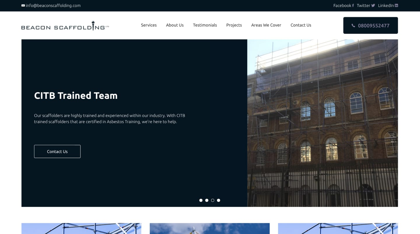 Beacon Scaffolding - SEO and Web Design and Development 1