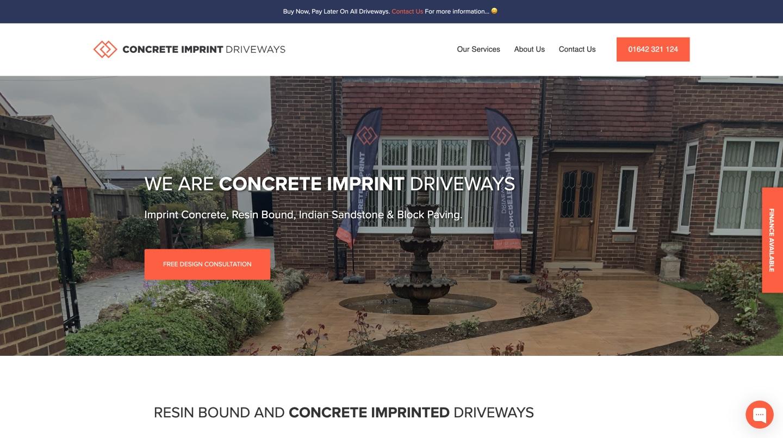 Concrete Imprint Driveways 1