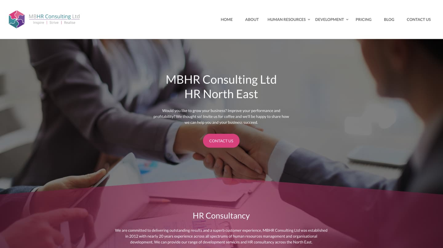 MBHR - The Perfect Blend of Website Design & SEO 1