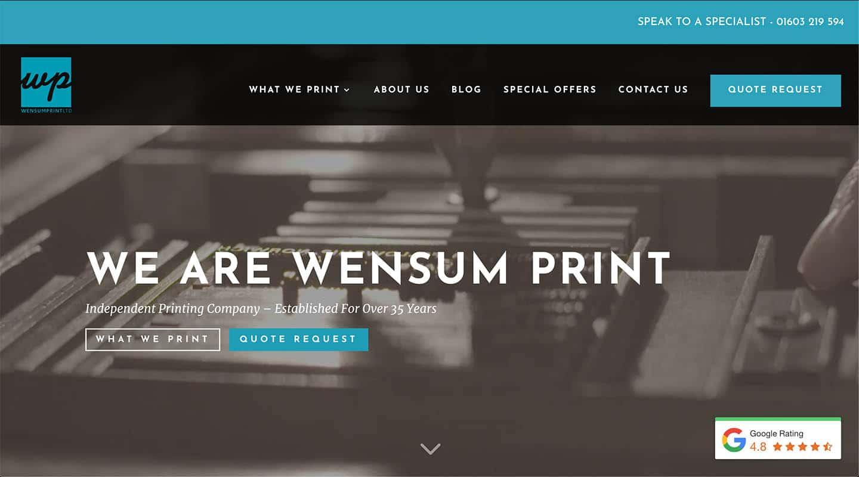 Wensum Print Case Study