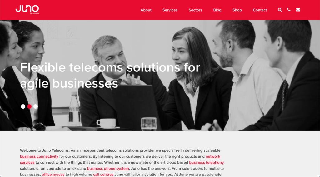 Juno Telecoms Website